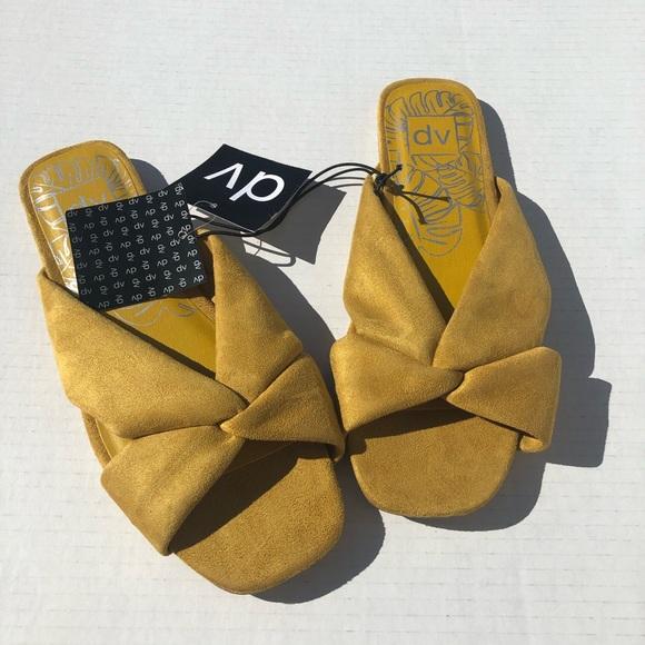 49486632cd40 Dolce Vita Marigold Suede Twist Slide Sandal